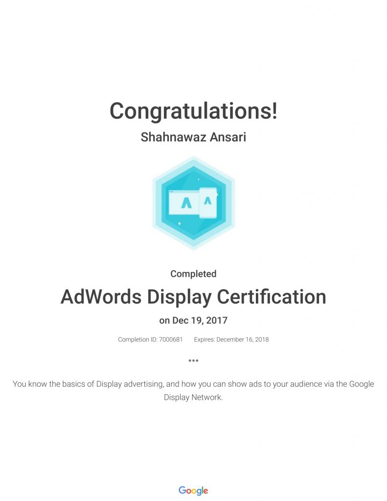 Academy for Ads_ AdWords Display Certification