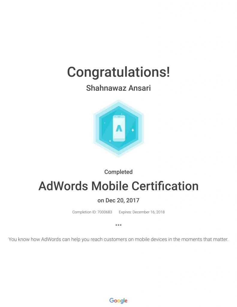 Academy for Ads_ AdWords Mobile Certification