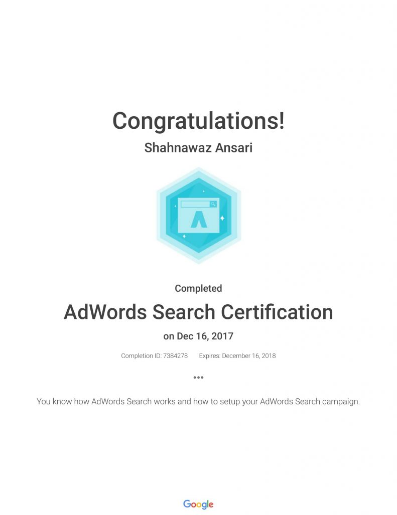 Academy for Ads_ AdWords Search Certification