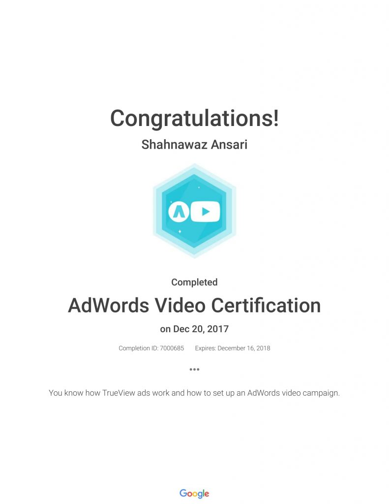 Academy for Ads_ AdWords Video Certification