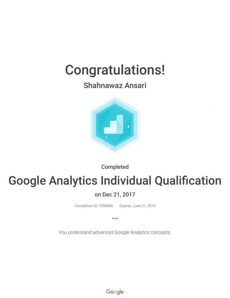 Academy for Ads_ Google Analytics Individual Qualification