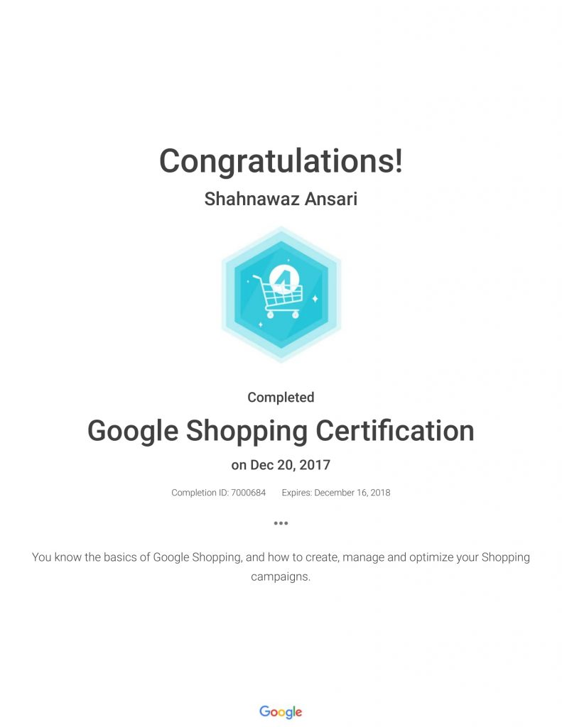 Academy for Ads_ Google Shopping Certification