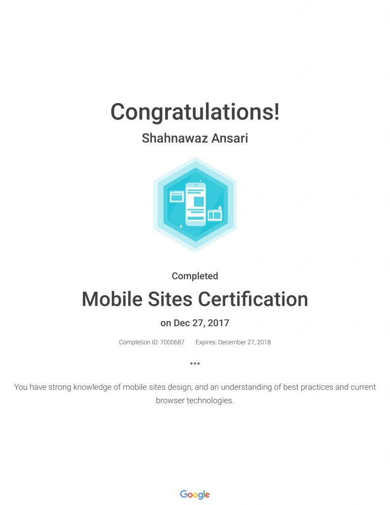 Academy for Ads_ Mobile Sites Certification